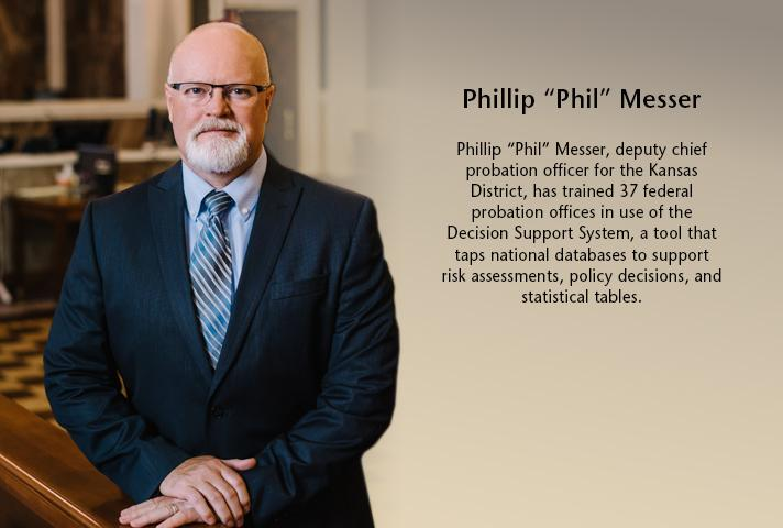 """Phillip """"Phil"""" Messer, deputy chief probation officer for the Kansas District."""