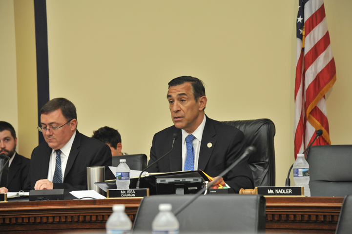 Subcommittee chair, Rep. Darrell Issa (R-CA), questions AO Director James C. Duff.