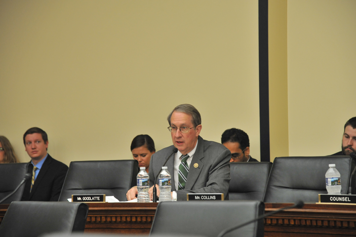Rep. Robert Goodlatte (R-VA), chair of the House Judiciary Committee, makes a statement