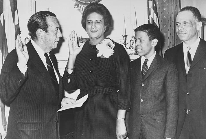 Constance Baker Motley became the first woman President of New York's Manhattan Borough.
