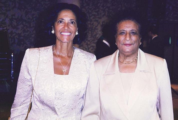 Judge Constance Baker Motley with Judge Anne Thompson.