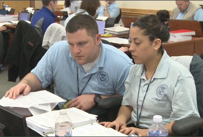 Image of Student trainees studying for careers as probation officers.