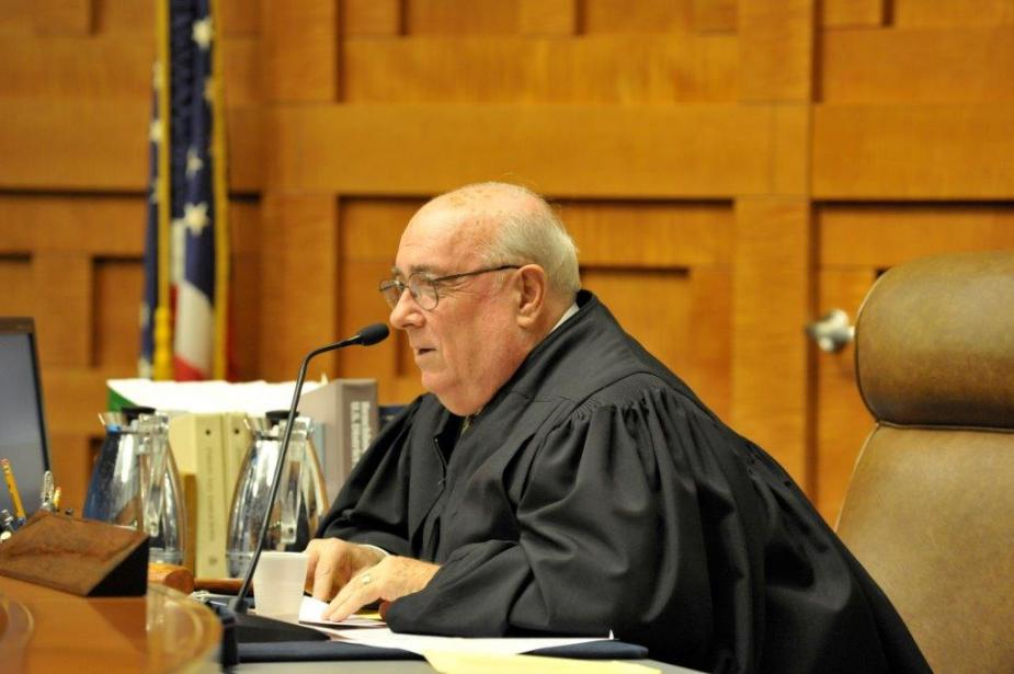 A federal judge adds authenticity to the simulation and answers questions about the courts.