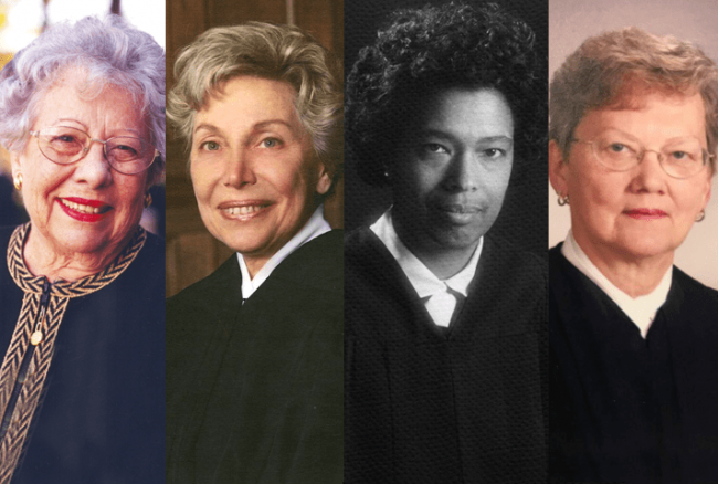 Image: A group of women appointed to the federal bench in 1979.