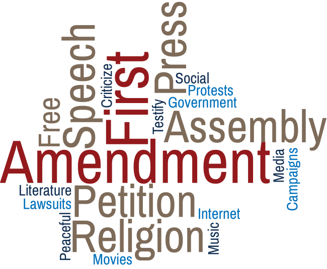 Words associated with the first amendment
